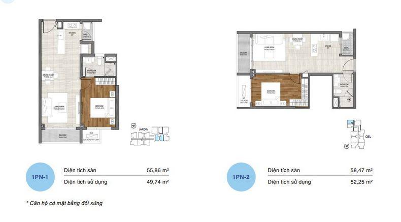 Thiết kế căn hộ 1 phòng ngủ tại dự án One verandah